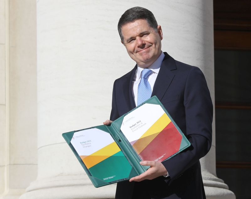 Irish Finance Minister Paschal Donohoe presents Budget 2021 in Dublin