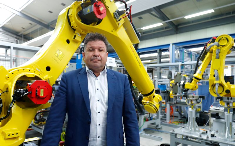 Frank Konrad, Chief Executive Officer of HAHN Automation is pictured in Rheinboellen