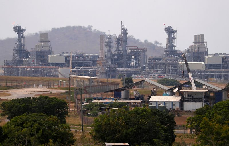 FILE PHOTO: Newly constructed worker's accommodation can be seen in front of the ExxonMobil PNG