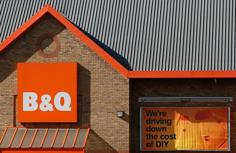A B&Q store is seen in London