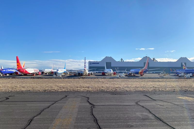Boeing 737 MAX jets in Moses Lake, Washington