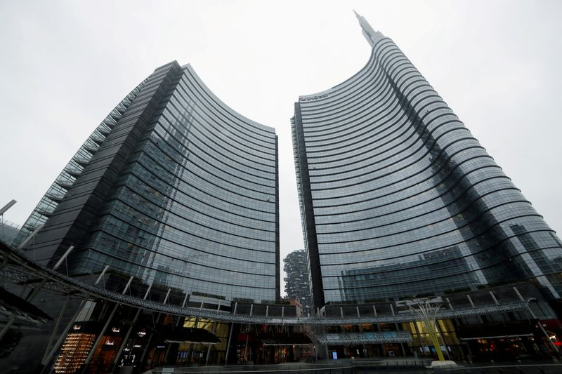 FILE PHOTO: A view of the Unicredit headquarters in Milan