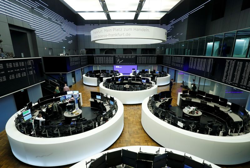 FILE PHOTO: Frankfurt's stock exchange last trading session of the year