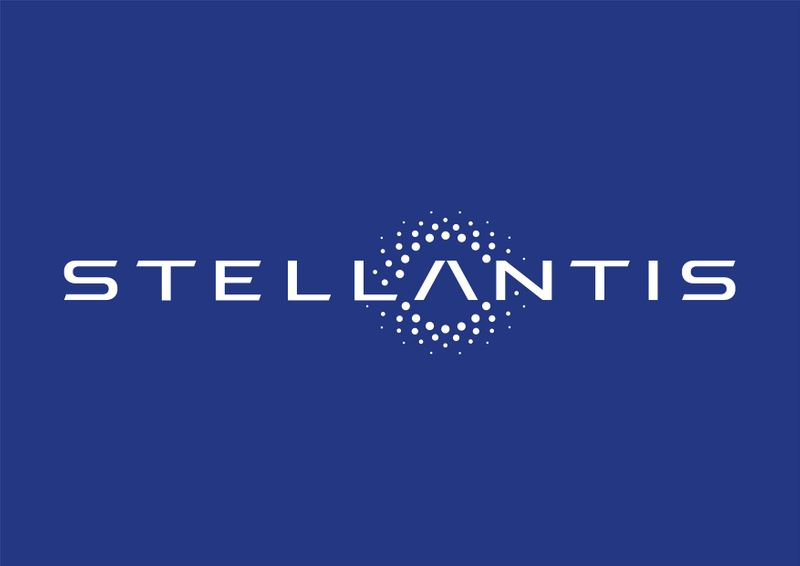 FILE PHOTO: The logo of Stellantis