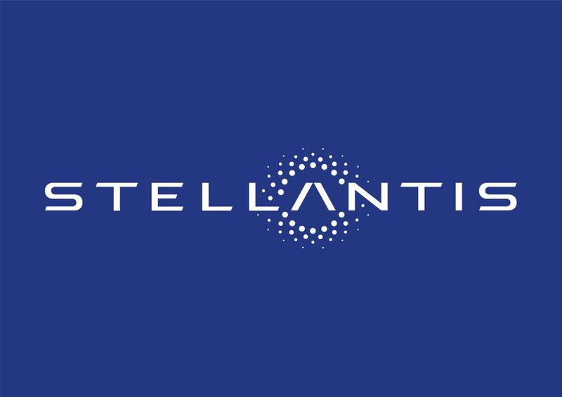 FILE PHOTO: The logo of Stellantis