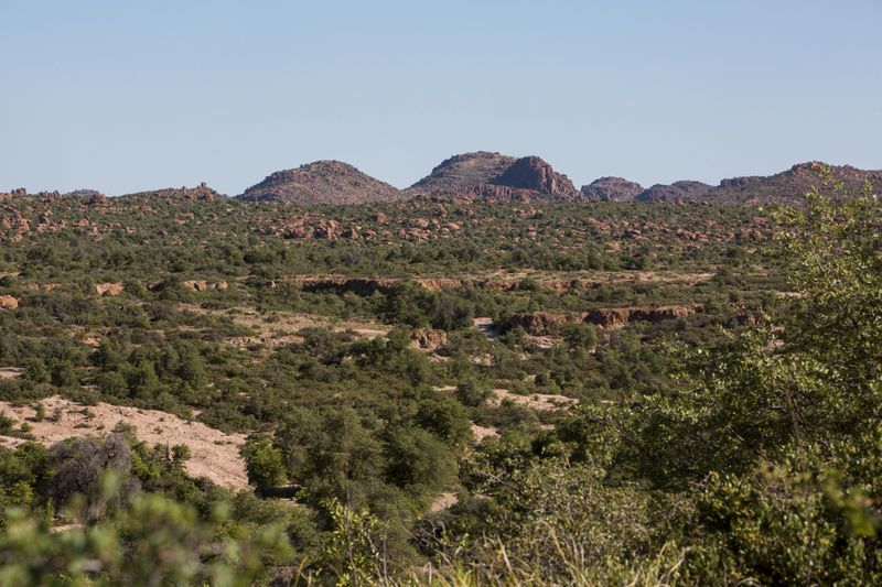 FILE PHOTO: A view of the future block cave mine planned by mining company Rio Tinto in the