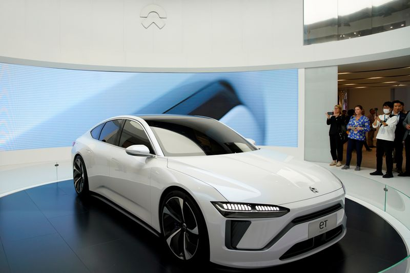 NIO's new electric vehicle (EV) ET7 is unveiled during the media day for Shanghai auto show