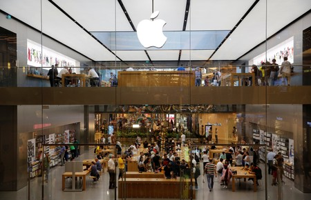 An Apple store is pictured in Istanbul
