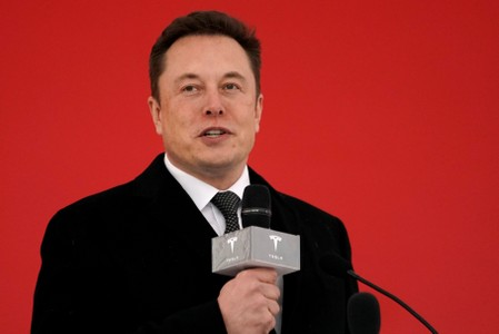 FILE PHOTO: Tesla CEO Elon Musk attends the Tesla Shanghai Gigafactory groundbreaking ceremony